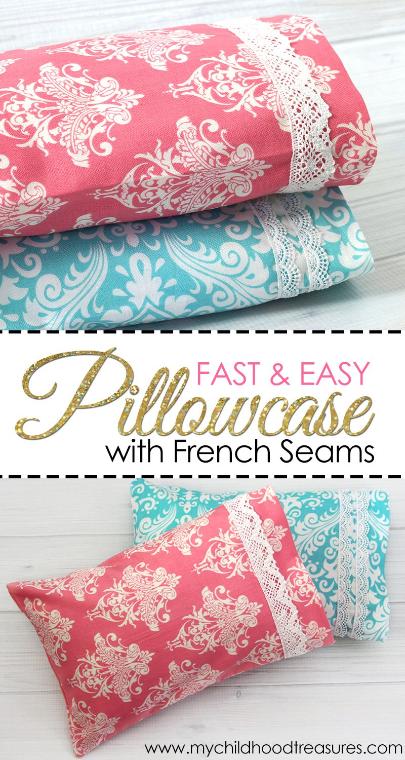 How Much Fabric To Make A Pillowcase Fascinating Pillowcase Pattern  How To Make A Pillowcase With French Seams Inspiration