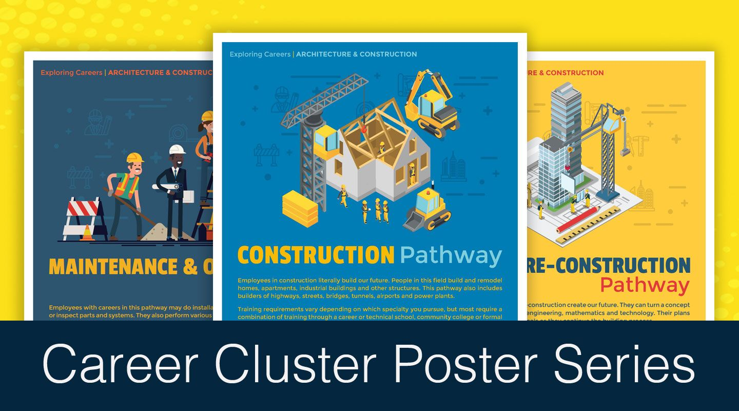 Free Poster Series Exploring Careers Architecture Construction Career Clusters Classroom Posters Career