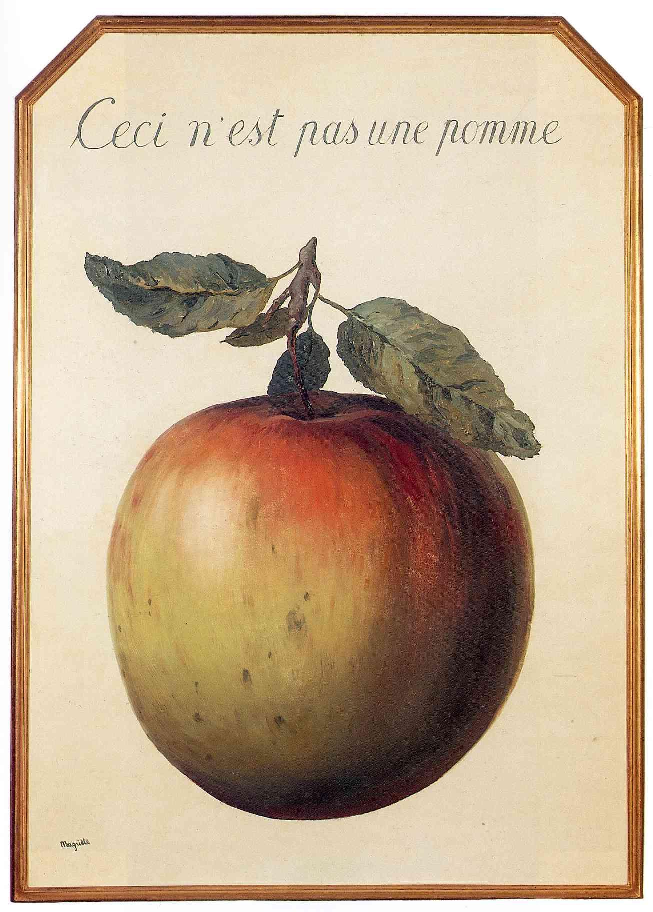 d257fd29338 Ceci n'est pas une pomme (This is Not an Apple) by René Magritte, 1964