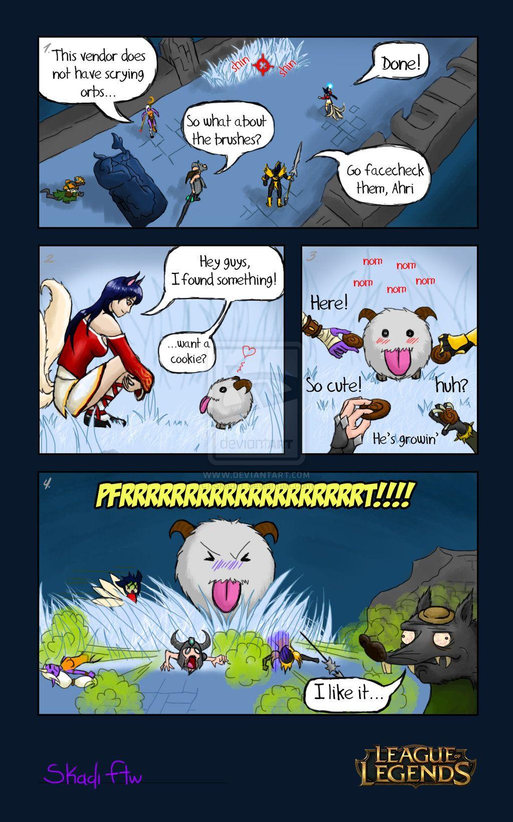 Don't feed the poro! by Skadi-r.deviantart.com on @deviantART