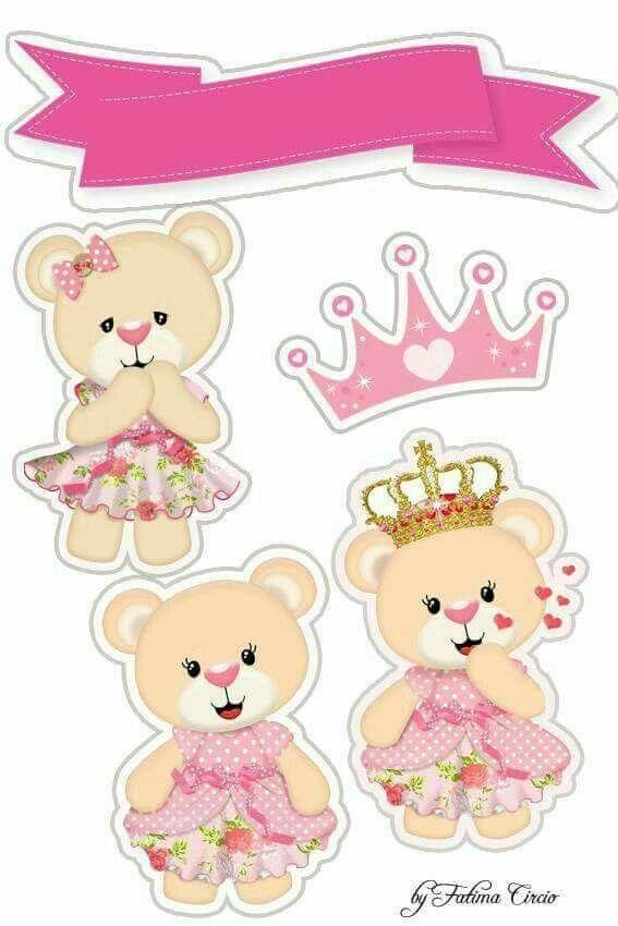 Melhores Modelos De Topo De Bolo Ursinha Princesa Para Imprimir E