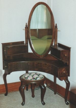 Vintage Walnut Corner Vanity By Venusv Corner Vanity Furniture Decor Corner Furniture