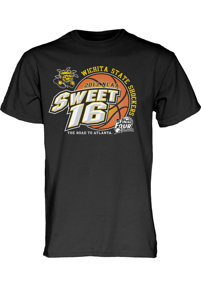 0f6955d2436 Wichita State University Shockers Sweet 16 Men s Black 2013 Sweet Sixteen  Basketball Shirt http