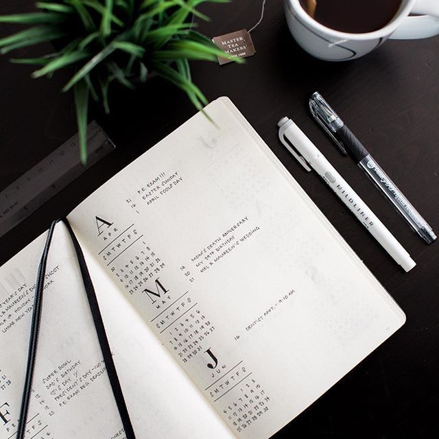 Hi there! My name is Mark. A friend of mine suggested I make a bullet journal IG account after posting several photos of spreads on my personal account. Despite some slight hesitation, here I am! Not sure what to expect from here so we'll see where it goes. • • • Let's start off with a glimpse of my future log.