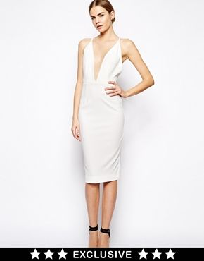 Image 1 of Solace London Curtis Midi Dress with Strappy Back