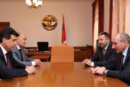 Artsakh President meets Armenian Minister of Emergency Situations