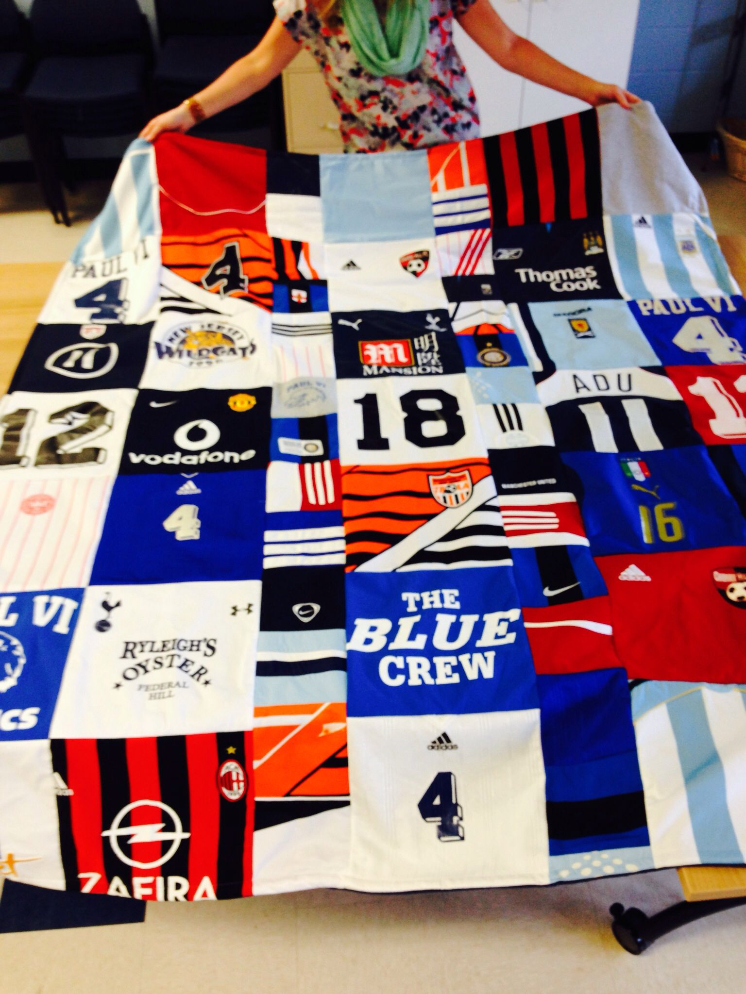 Making Quilt Sports Jerseys