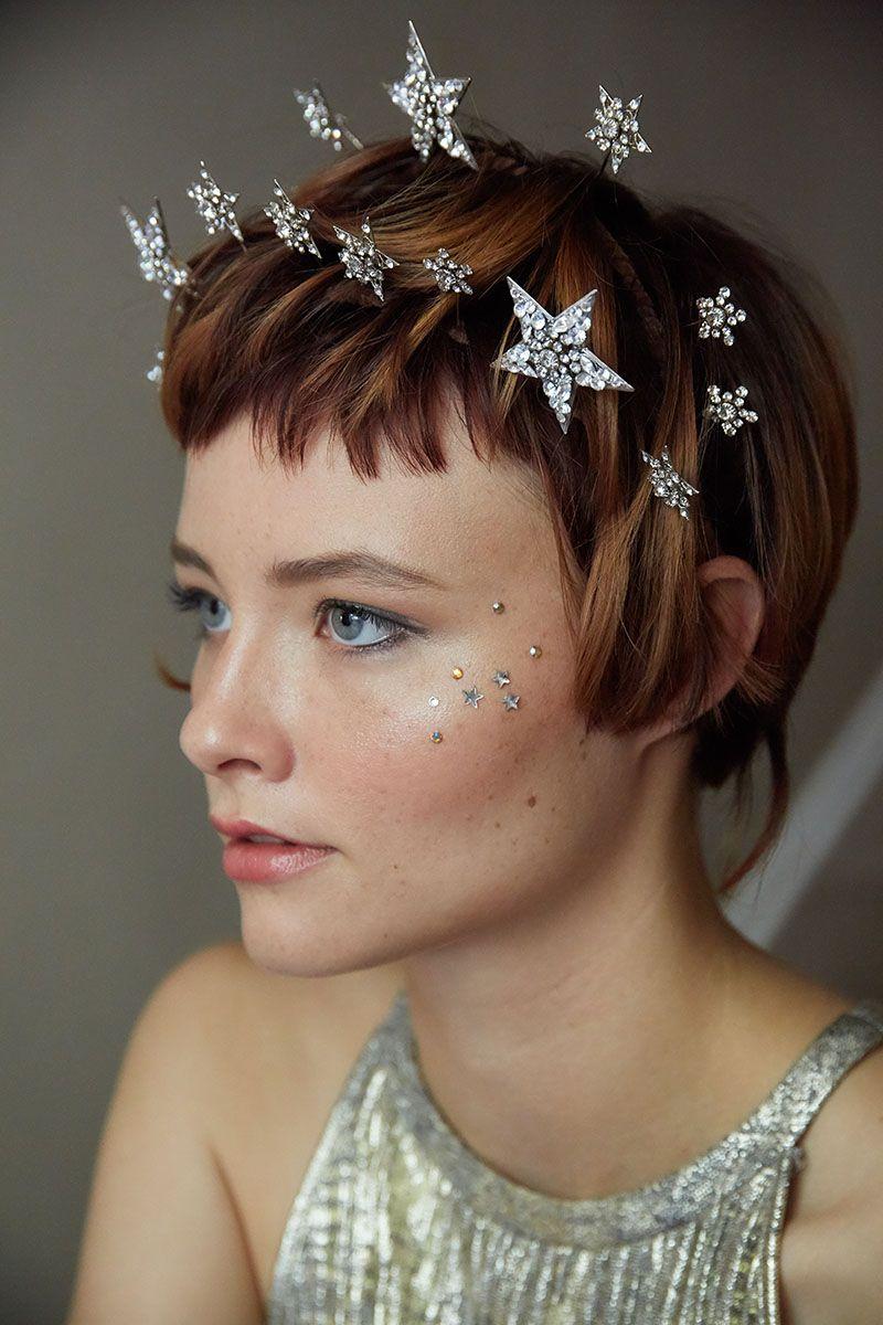 Bridal hair accessories wedding tiara star bridal hair vine Celestial bridal headpiece