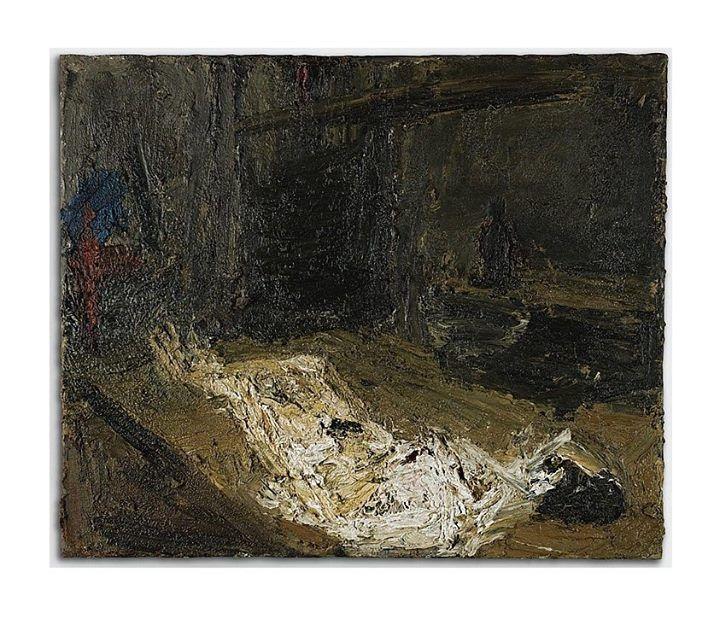 Frank Auerbach (b. 1931) E.O.W., Nude, Lying on Her Back, 1959