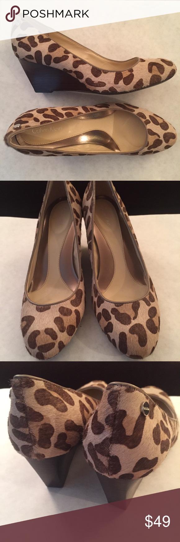 calvin klein animal print shoes