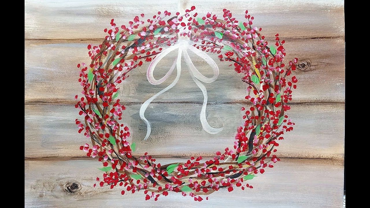 Learn How To Paint A Super Easy And Fun Rustic Wreath On