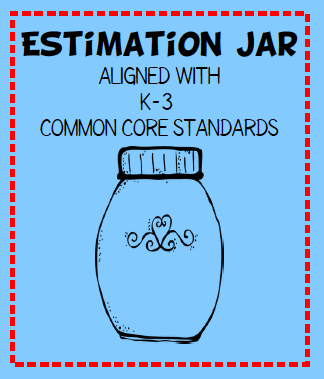 FREE Estimation jar lessons are one of those activities that can be organized many different ways.  Plus you can teach a variety of skills with a jar.  Who knew a jar could be so useful in the classroom?