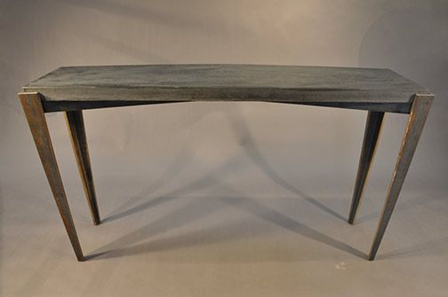 Concrete Console Table With Steel Table Base