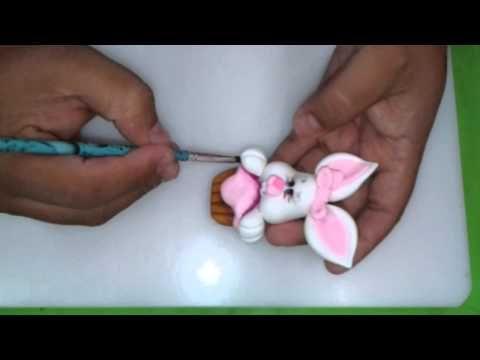 Curso de Biscuit Vitrine da Arte-Natal/Rn c/ Iterlano/CE - Coelhinha - Parte 02 - YouTube