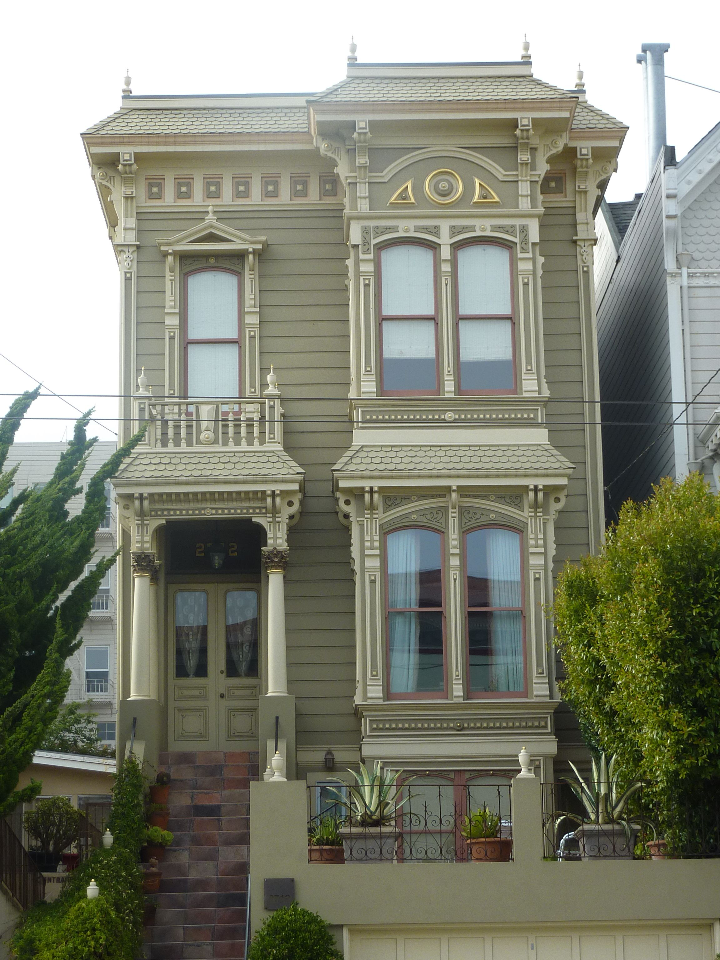 Architectural details victorian san francisco close for San francisco victorian houses