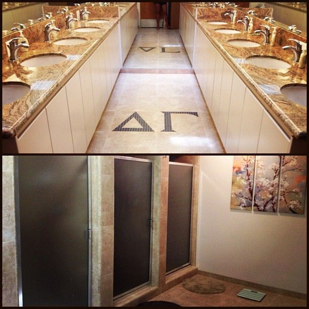 fresno state s new bathroom delta gamma pinterest sorority