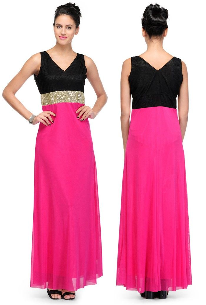 Pink #Viscose Readymade #PartyWear #Dress | US$33 | Party Wear ...