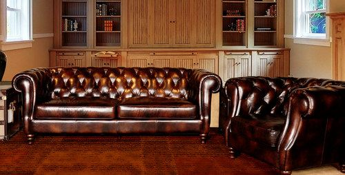 Leather Sofa Heirloom Quality Vintage Tufted Chesterfield Restoration Rh Gftcard Ebay Leather Sofa