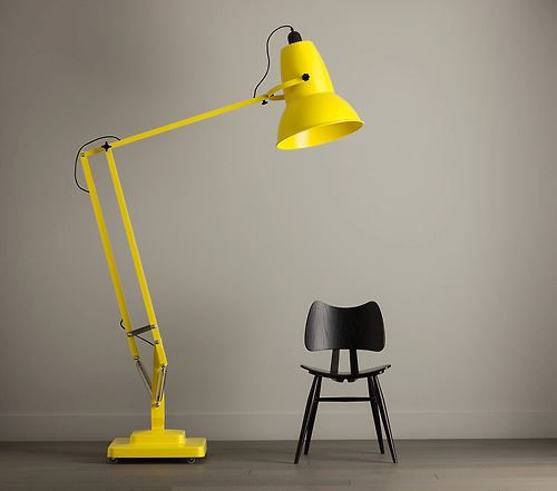 Big Desk Lamp Office Interior Workspace Decor Workinterior Chair Yellow Lamp Anglepoise Lamp Anglepoise Giant Floor Lamp
