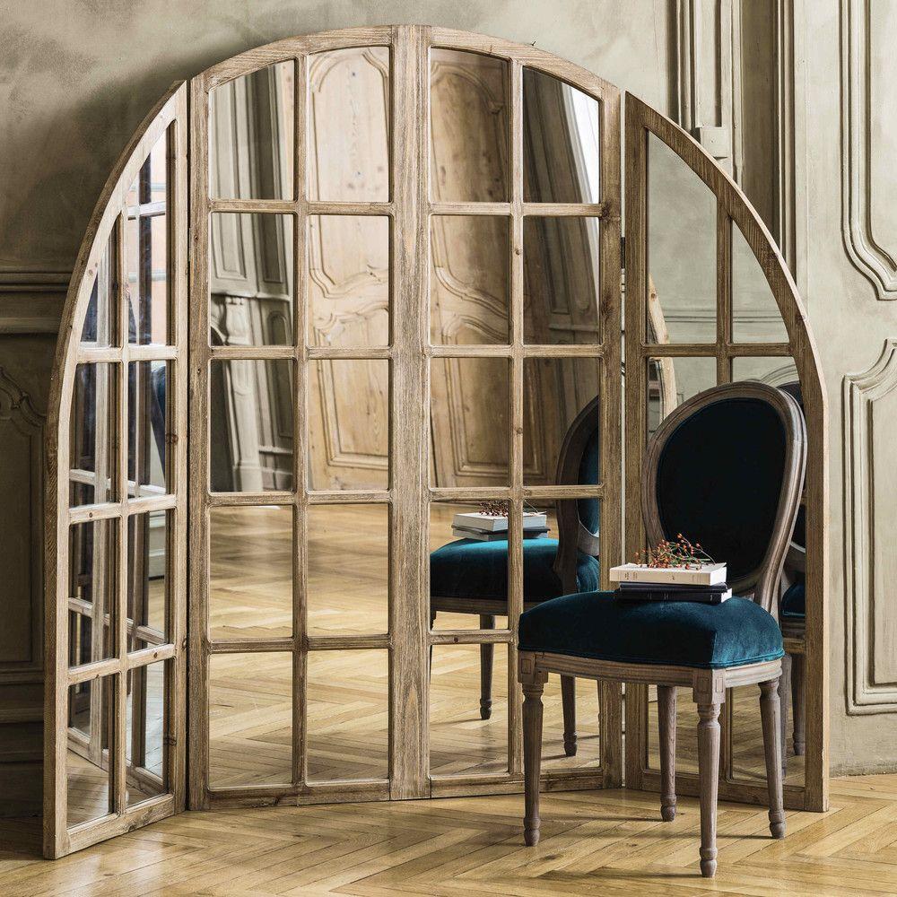 Spiegel marceau mit holzrahmen b 200 cm dekoration for Spiegel mit bildschirm