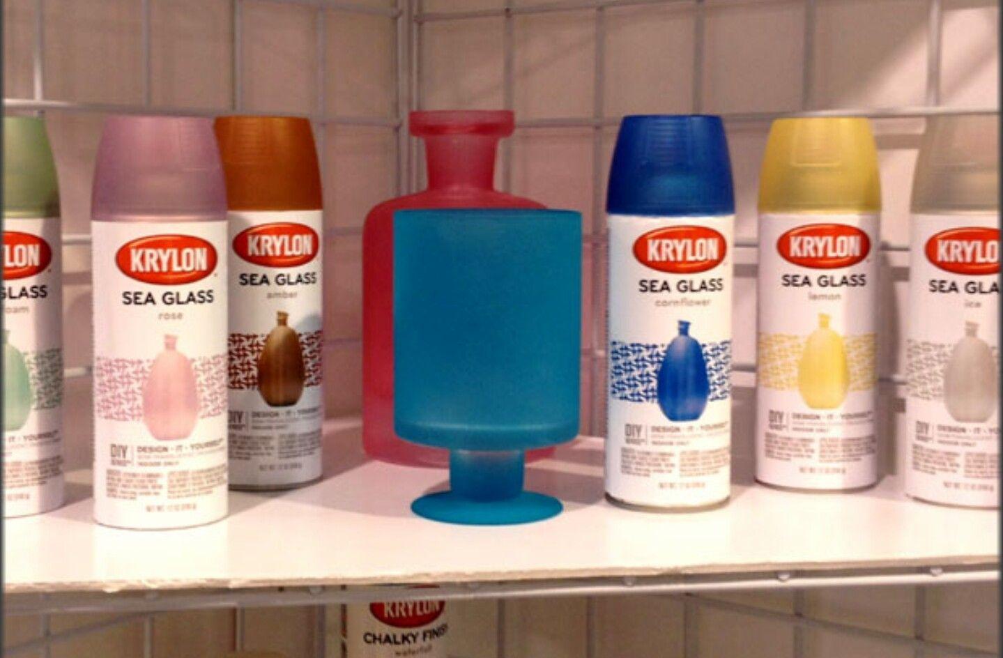 Krylon Sea Glass Paint Diy Glass Diy Spray Paint Seaglass