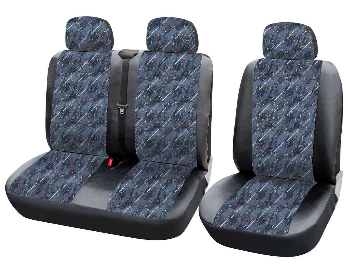 1+2 Sitzbezüge Schonbezüge für VW ohne Seitenairbag AS7346