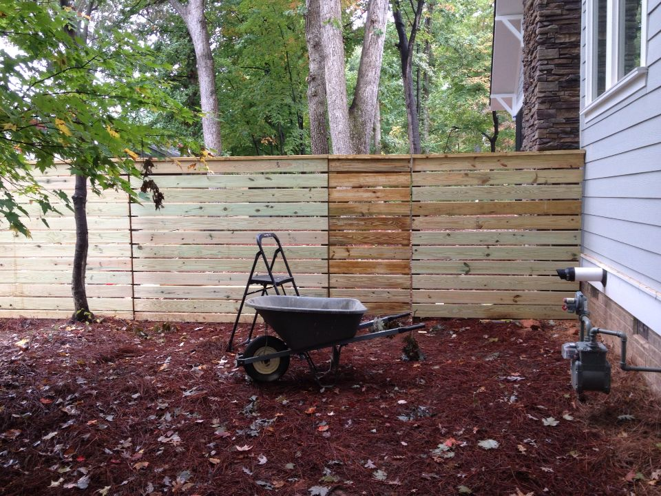 Finished fence and gate