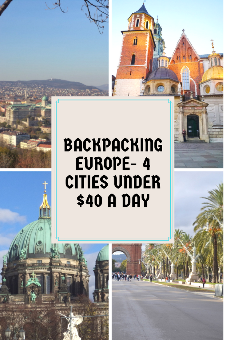 4 cities that you can cover in $40/day  It does not include