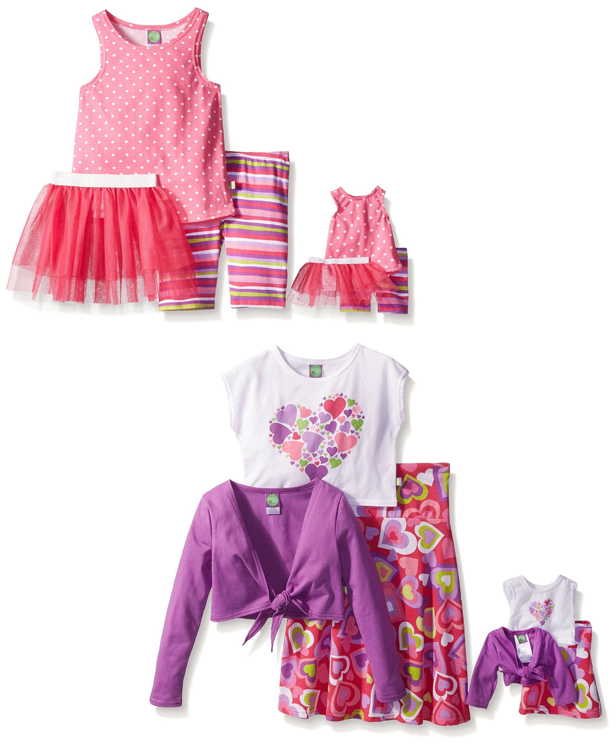 a46d5f8665 Dollie   Me Little Girls  Pink Hearts Fashion Mix-Ups Multi Piece ...