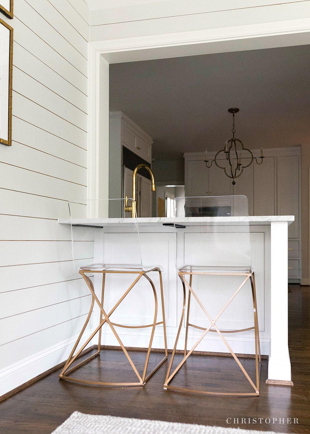 Miraculous Christopher Gold And Clear Acrylic Counter Stools Inzonedesignstudio Interior Chair Design Inzonedesignstudiocom