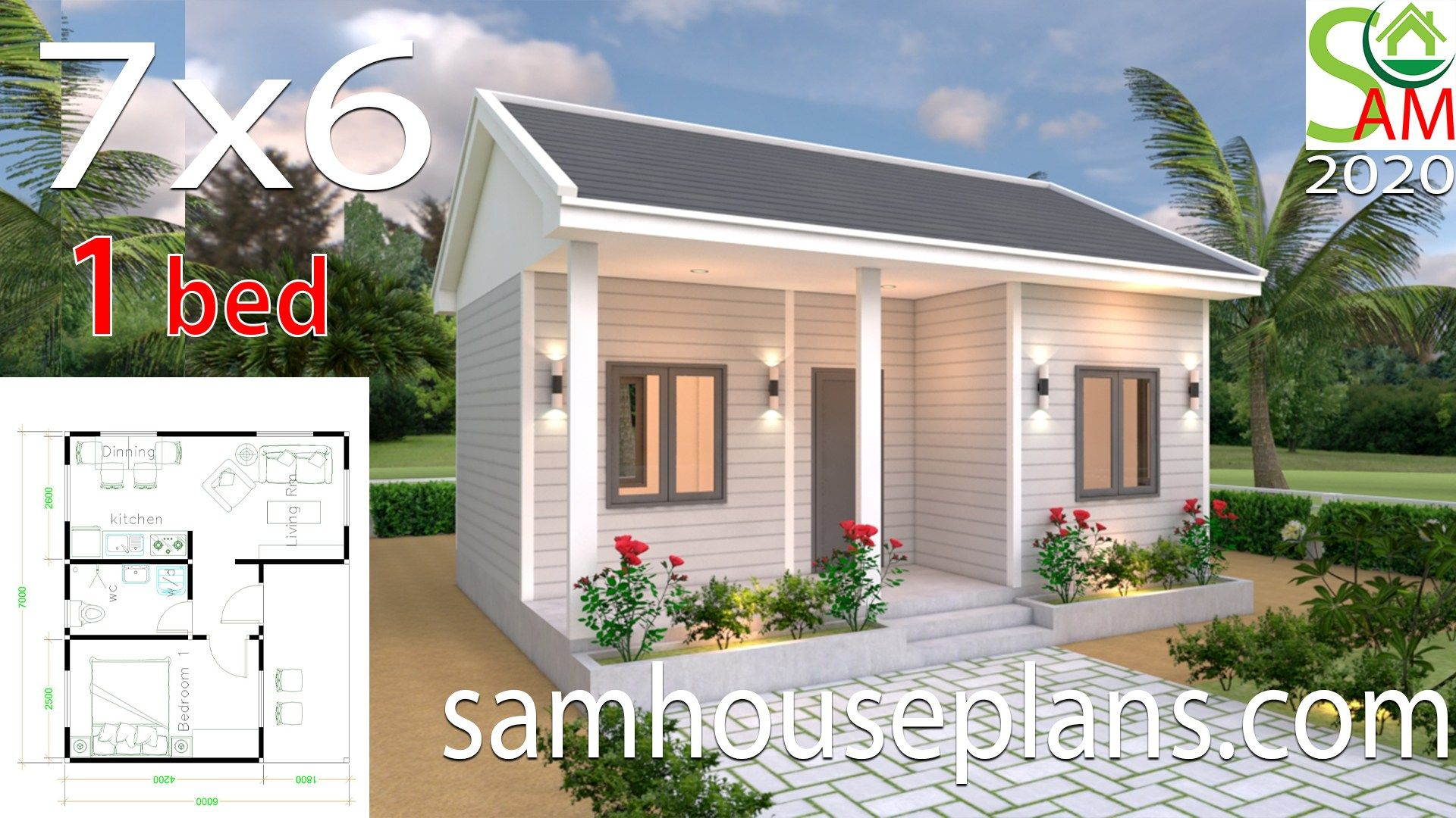 House Plans 7x6 With One Bedroom Gable Roof Houseplanidea House Plans House Plans Mansion House Plan Gallery