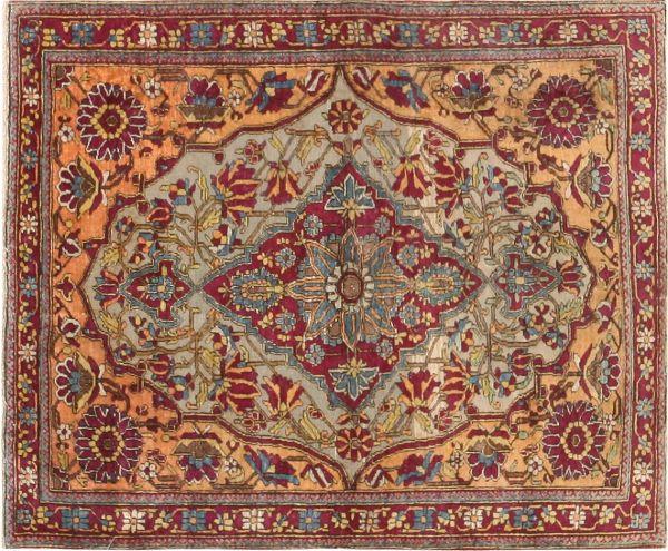 Antique Mohtashem Kashan Persian Rug 47047 Detail Jpg