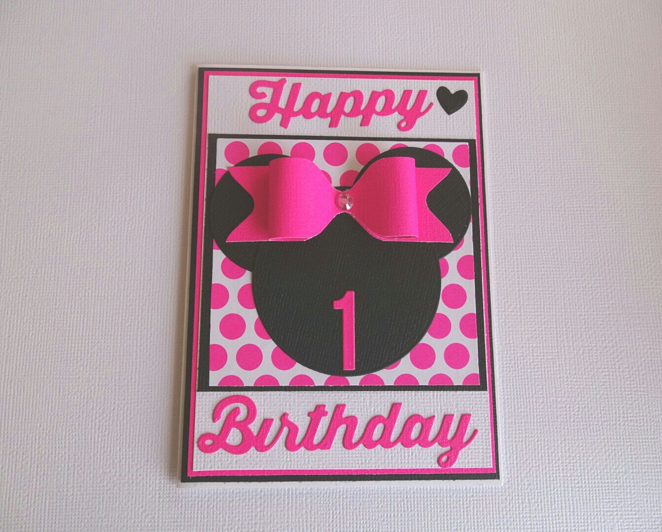 Birthday card 1st, 1st birthday card, 1st birthday girl