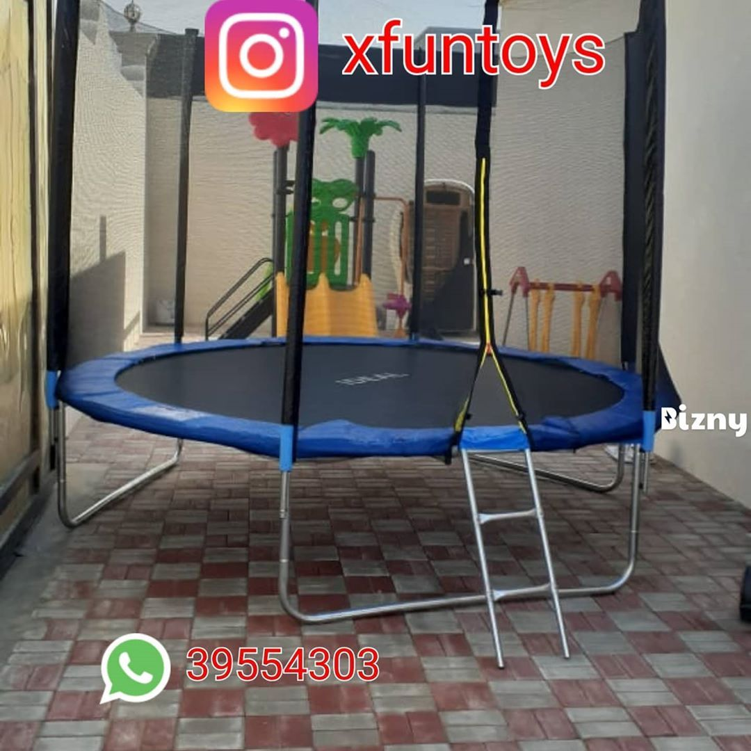 Trampoline (10FT 12FT) available #Xiangyu #xfuntoys#bahrain #trampoline #toys