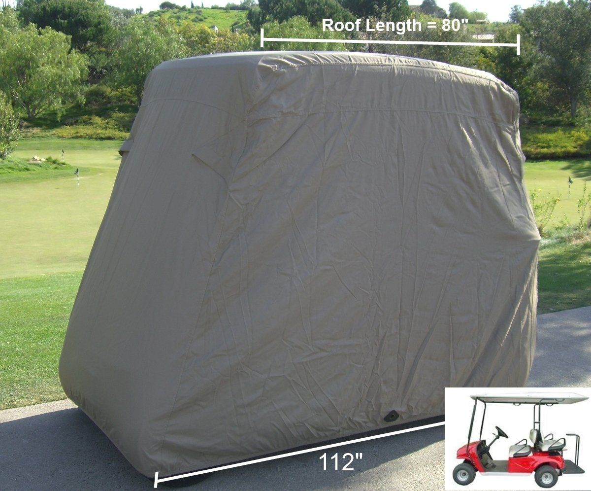 Golf Clubs Deluxe 4 Passenger Golf Cart Cover roof 80L