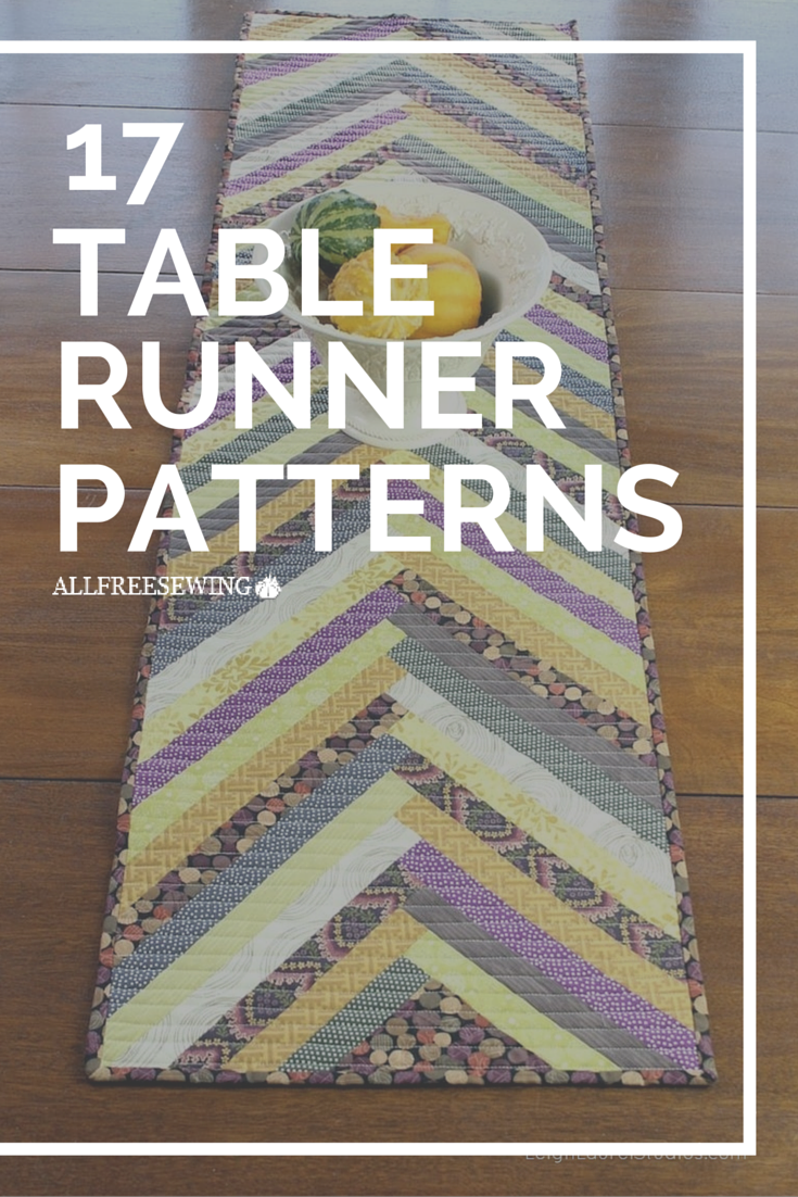 17 Gorgeous Table Runner Tutorials and Patterns | Läufer, Nähideen ...