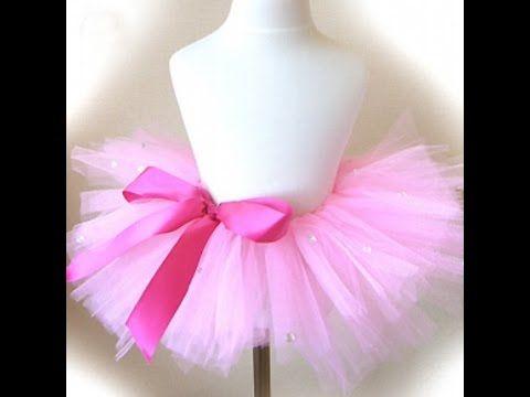40cad0b93d Como hacer un tutu de ballet sin maquina de coser! - YouTube