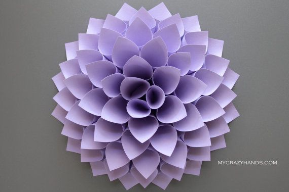How To Create Dahlia Paper In 2020 Paper Dahlia Paper Flower Wall Art Paper Flower Wreaths