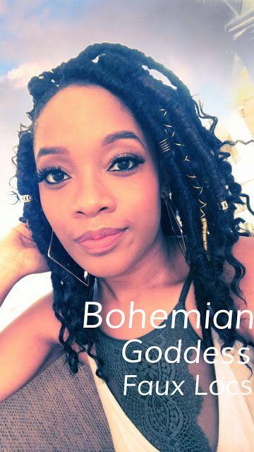 Bohemian Goddess Faux Locs Protective Styling Vacation Hair
