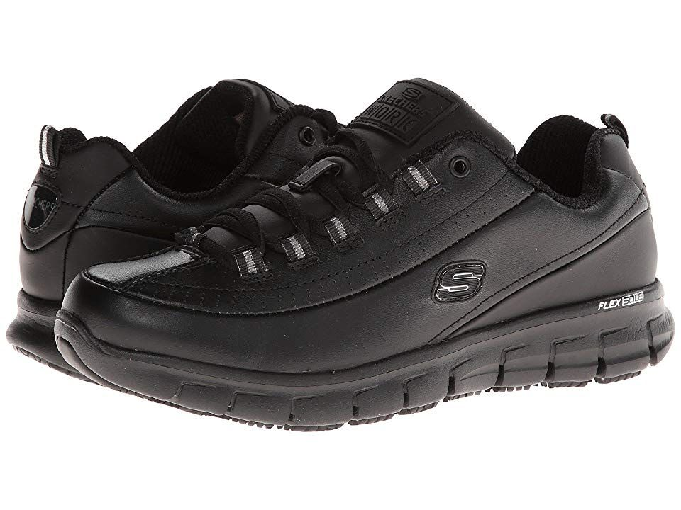 SKECHERS Work Sure Track Trickel Women's Shoes Black