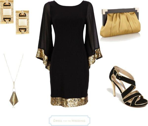 Art Deco Look black and gold dress - art deco look for a wedding | gold art, art
