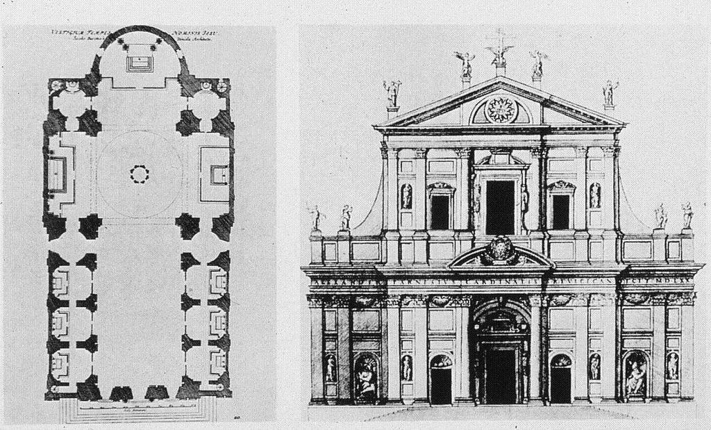 Resultado de imagen de PLANTA DE IL GESÙ -JACOME BARIZZI DA VIGNOLA, ROMA 1568