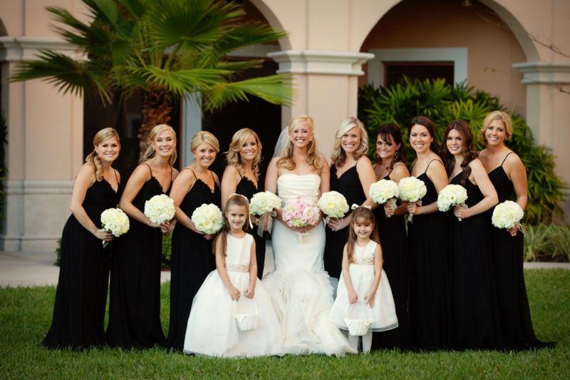 Beautiful Picks Of A Black White And Blush Pink Wedding