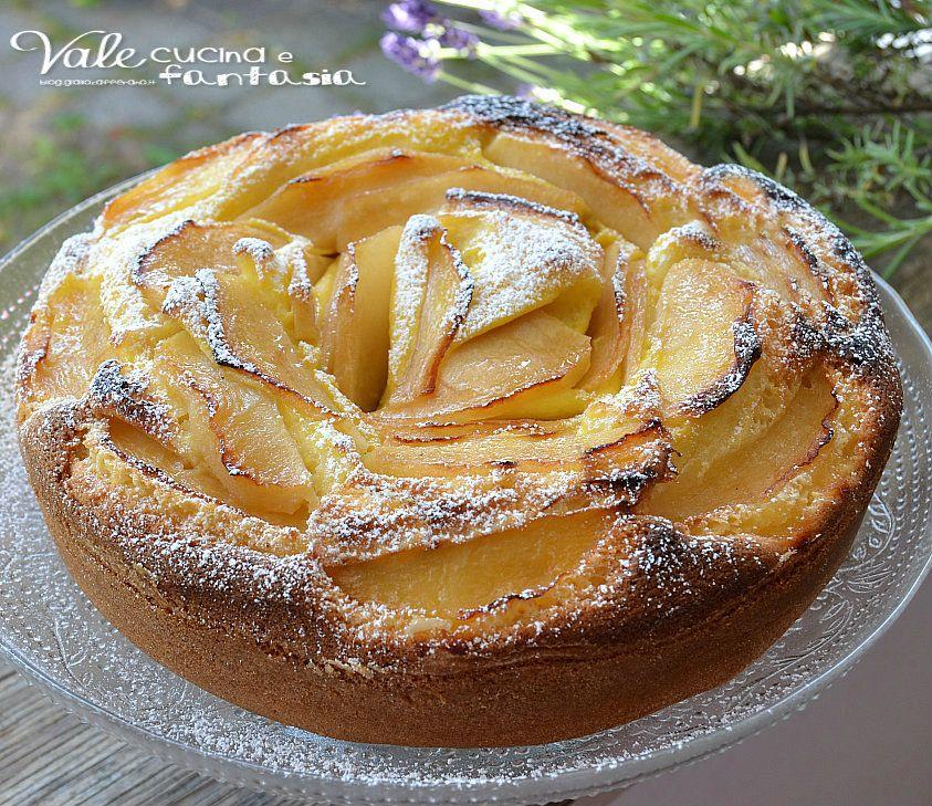 Torta di mele e crema pasticcera senza burro e olio | Cake ...