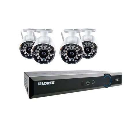 LH028501C4WB 8-Channel 500GB Eco Blackbox 4 x 960H Wireless Indoor/Outdoor Security Camera System with Stratus Connectivity (White) - For Sale