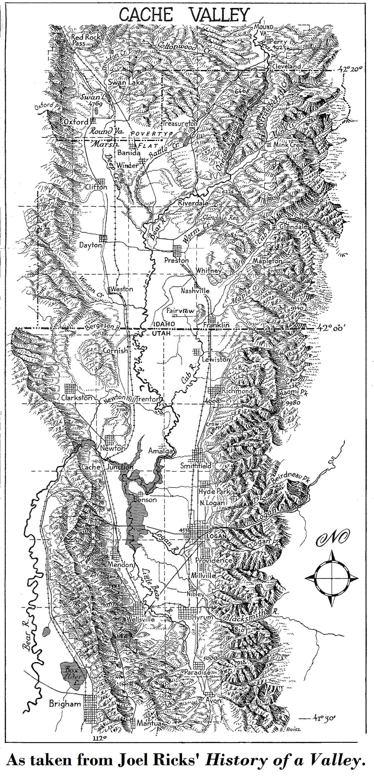 Logan Library Historic Map Cache Valley Utah Railroad Map As