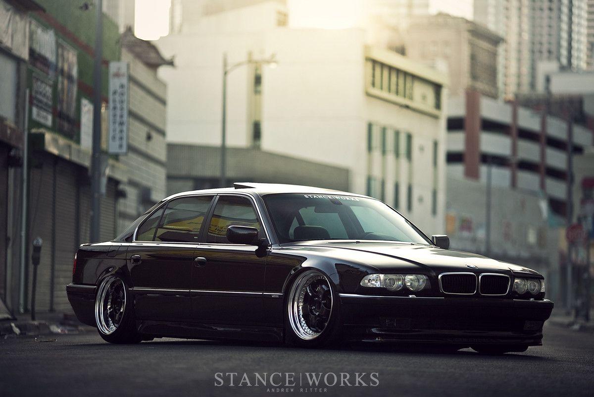 Slammed BMW E38 7 Series