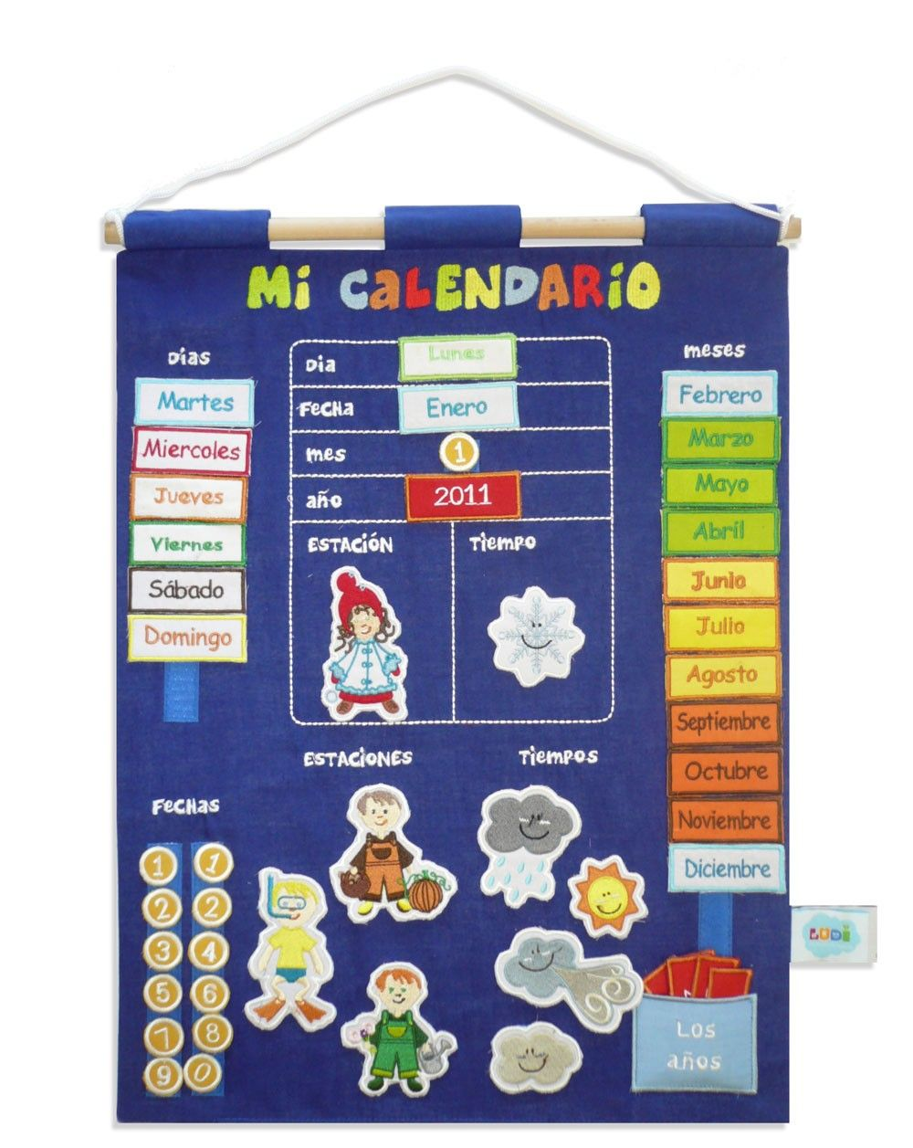 Calendario educativo de tela minimoi xiquets pinterest for Calendario manualidades