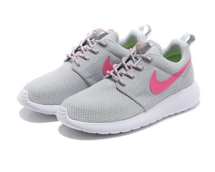 Nike Roshe Run Femme Chaussure gris rose prix spécial