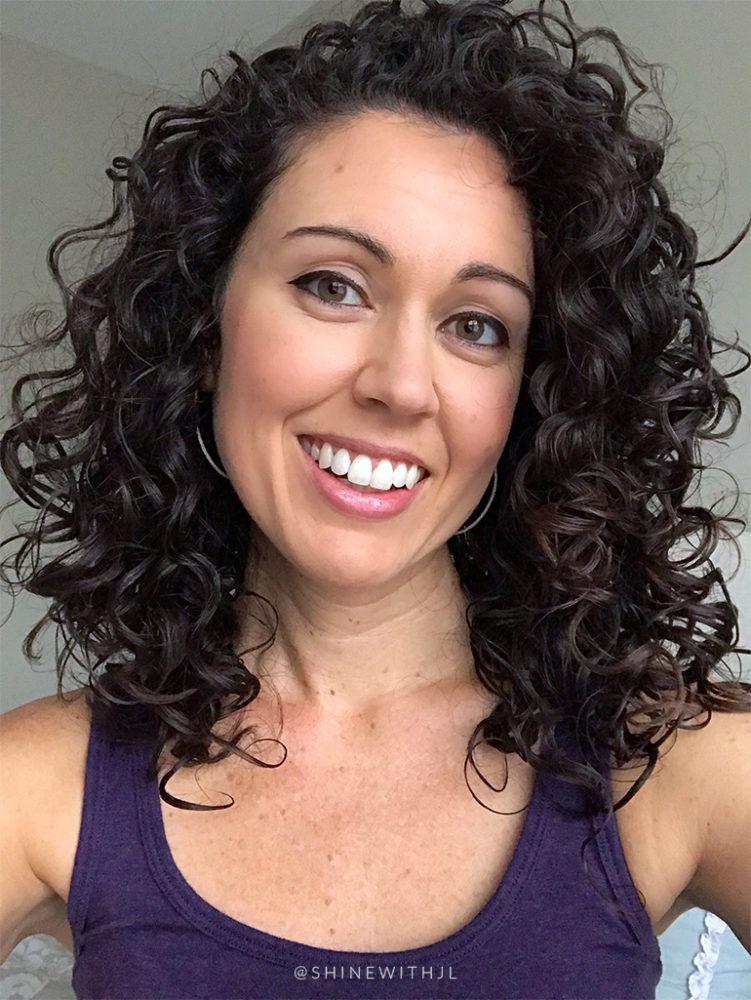 long curly hair style shoulder length 2c 3a Medium curly